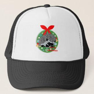 merry christmas hedgehog trucker hat