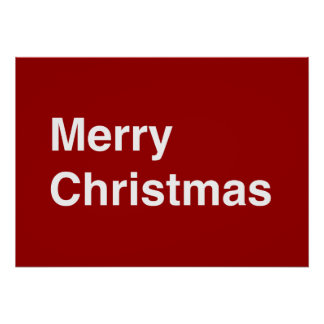 Merry Christmas Helvetica Poster