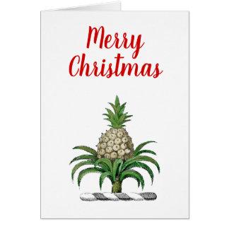Merry Christmas Heraldic Pineapple Crest Card