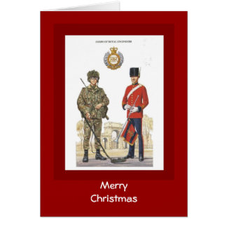 Merry Christmas, Historic uniforms,Royal Engineers Card