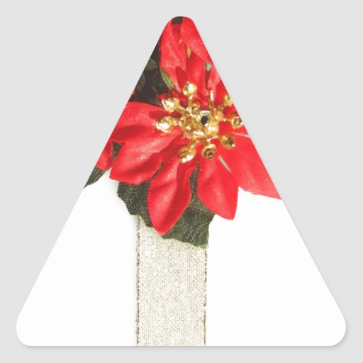 Merry Christmas  Holiday celebrations Santa Clause Triangle Sticker