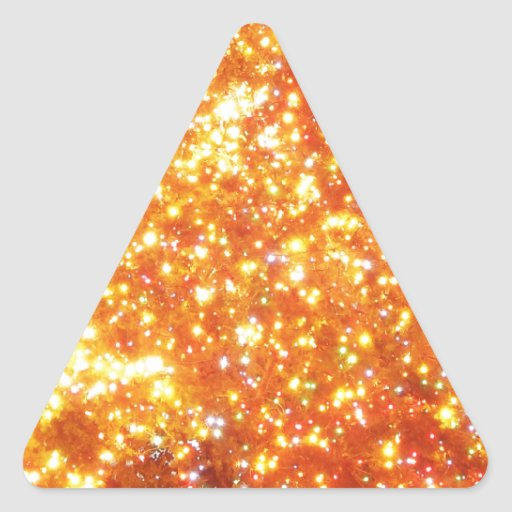 Merry Christmas  Holiday celebrations Santa Clause Triangle Stickers