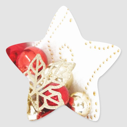Merry Christmas  Holiday celebrations Santa Clause Star Stickers