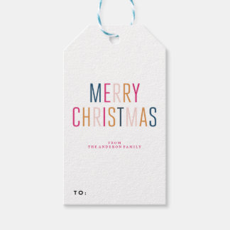 MERRY CHRISTMAS holiday christmas Gift Tags Pack Of Gift Tags