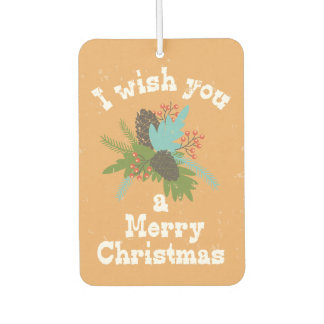 Merry Christmas Holiday Decor Car Air Freshener