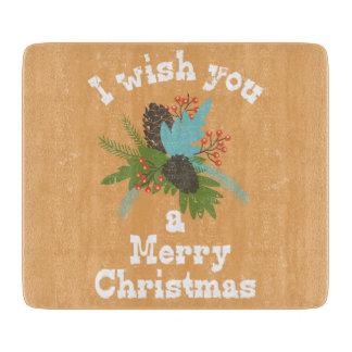 Merry Christmas Holiday Decor Cutting Board