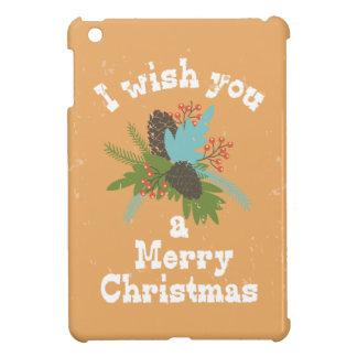 Merry Christmas Holiday Decor iPad Mini Cases