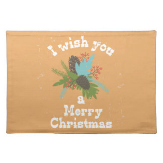 Merry Christmas Holiday Decor Placemat