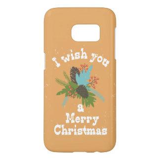Merry Christmas Holiday Decor Samsung Galaxy S7 Case
