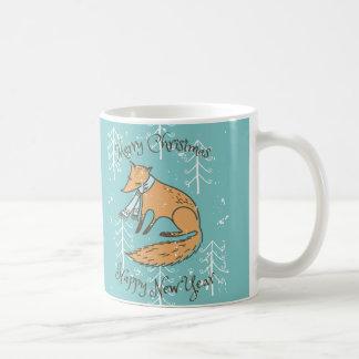 Merry Christmas Holiday Fox Cozy Coffee Mug