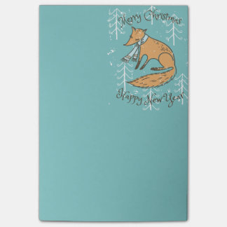 Merry Christmas Holiday Fox Cozy Post-it® Notes