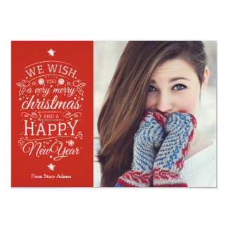 Merry Christmas Holiday Greeting Photo Card