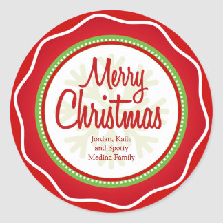 Merry Christmas Holiday Greetings Labels