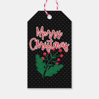 Merry Christmas   Holiday Holly Berries Gift Tags