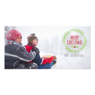 Merry Christmas Holiday Photocard Card