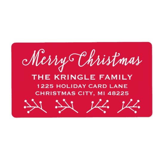 Merry Christmas   Holiday Return Address