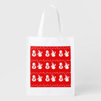 Merry Christmas Holiday Reusable Tote Bag Grocery Bags