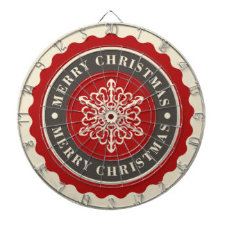 Merry Christmas Holiday Snowflake Dart Boards