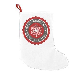Merry Christmas Holiday Snowflake Small Christmas Stocking