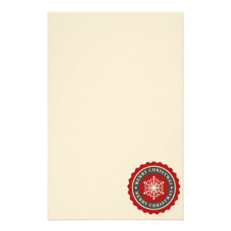 Merry Christmas Holiday Snowflake Stationery