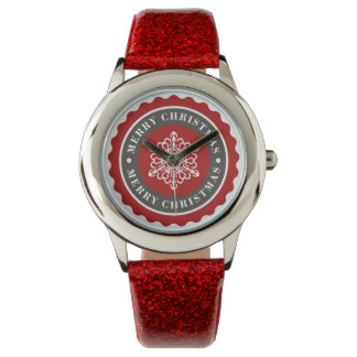 Merry Christmas Holiday Snowflake Watch