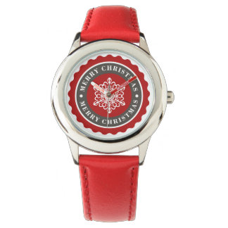 Merry Christmas Holiday Snowflake Watches