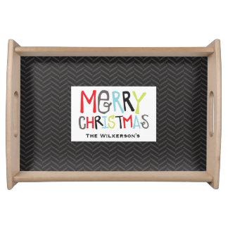 Merry Christmas Holiday Tray