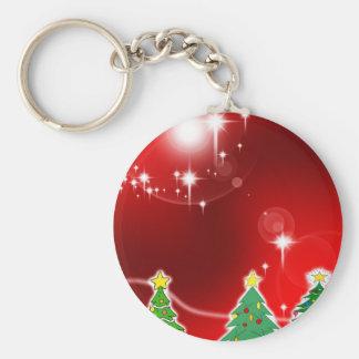 Merry Christmas  Holiday Tree Ornaments celebratio Keychain