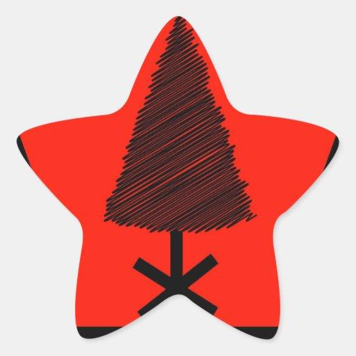 Merry Christmas  Holiday Tree Ornaments celebratio Star Stickers