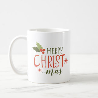 Merry Christmas Holly Berry Coffee Mug