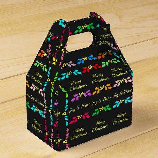 Merry Christmas Holly Party Favour Boxes