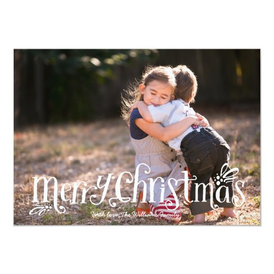 Merry Christmas Hugs | Holiday Photo Card