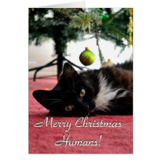Merry Christmas Humans! Card