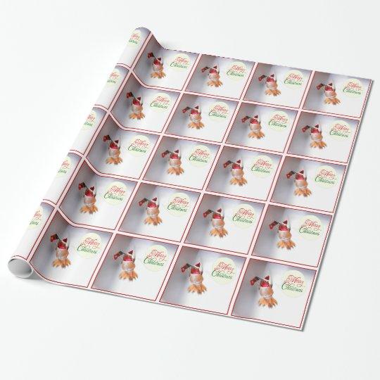 Merry Christmas Hummingbird Gift Wrap