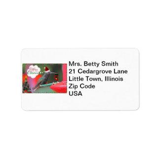 Merry Christmas Hummingbird Label