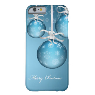 merry christmas icy blue lovely xmas balls barely there iPhone 6 case