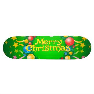 Merry Christmas illustration Skate Boards