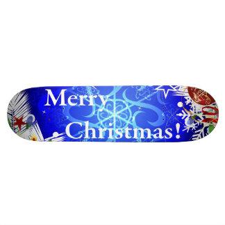 Merry Christmas illustration Skateboard Deck