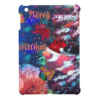 Merry Christmas in aquarium iPad Mini Cover