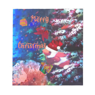 Merry Christmas in aquarium Notepads