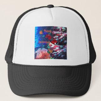 Merry Christmas in aquarium Trucker Hat