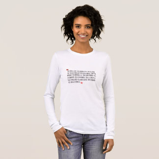 Merry Christmas in Binary Code Long Sleeve T-Shirt