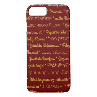 Merry Christmas in Foreign Languages iPhone 7 Case