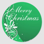 MERRY CHRISTMAS in GREEN by SHARON SHARPE Sticker