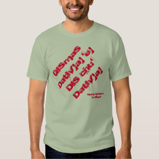 Merry Christmas in Klingon T-Shirt - StarTrek