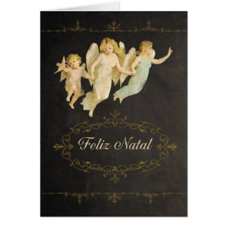 Merry Christmas in Portuguese, Feliz Natal, Greeting Card
