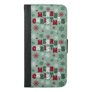 Merry Christmas iPhone 6/6s Plus Wallet Case