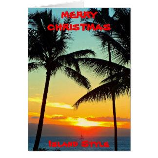 "MERRY CHRISTMAS  ""ISLAND STYLE""  HAWAII CARD"