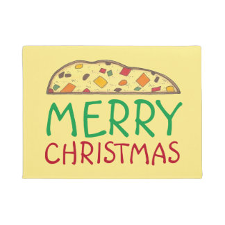 Merry Christmas Italian Holiday Biscotti Foodie Doormat