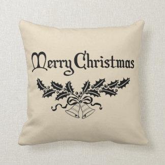Merry Christmas Ivy Farmhouse Throw Pillow